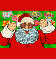 sale background santa claus in the star glasses vector image