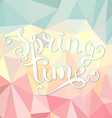 Spring time polygonal background vector image