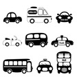 transportation vehicle vector image