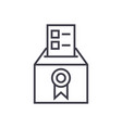 votevotingelectionspoll line icon sign vector image