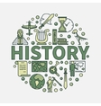 History green round symbol vector image
