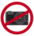 no camera symbol vector image