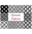 Damask floral ornament seamless pattern set vector image vector image