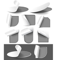 Gray labels vector image