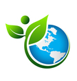 Green Earth logo vector image