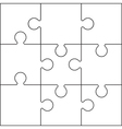 jigsaw set black vector image