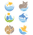 A set of icons - Pets vector image