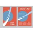 Circle geometric design brochures template vector image