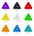 Colorful Penrose triangles vector image