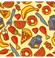 Hand made food seamless pattern vector image