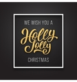Holly Jolly Christmas text on premium background vector image