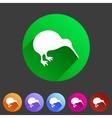 Kiwi bird icon flat web sign symbol logo label vector image