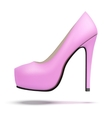 Pink vintage high heels pump shoes vector image