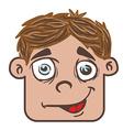 smiling boy head cartoon vector image