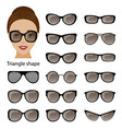 spectacle frames and triangular face vector image
