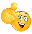 Thumb up emoticon vector image