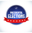usa presidential election lable vector image