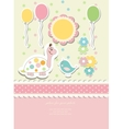 Vintage doodle baby card vector image vector image