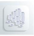 money coins icon vector image vector image
