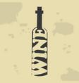 wine bottle vintage poster vector image