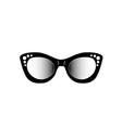 Vintage cat eye eyewear for ladies vector image vector image