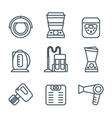 Home appliances modern linear modern concept vector image vector image