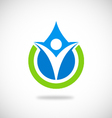 eco people pure water logo vector image