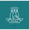 Bowling Pin and ball vector image vector image
