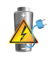 battery charging electricity vector image