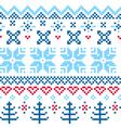 Beautiful seamless Norway pattern vector image