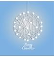 Christmas ball of luminous garlands vector image