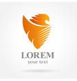 Eagle shield symbol emblem sign vector image