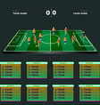 Football Players Positions on a Playfield vector image