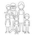 grandparents with kids icon vector image