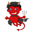 Red devil cartoon vector image