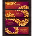 Set of elegant banners with golden royal ornament vector image