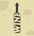 wine bottle vintage poster vector image