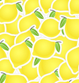 Yellow citrus seamless background vector image