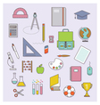 BACK TO SCHOOL FLAT ICONS COLLECTION vector image vector image