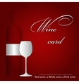 Template of a wine card vector image vector image