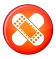 Medical patch icon flat style vector image