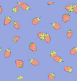 seamless strawberry background vector image vector image