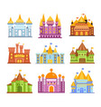 fairy tale castles and fortresses collection of vector image
