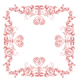 Heart frame Greeting and ornaments vector image