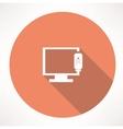 tv device icon vector image