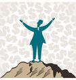 successful businessmen celebrate success vector image