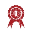 First place red grunge icon vector image