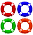 life buoy collection vector image