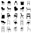 modern furniture silhouette vector image vector image