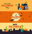 Hallowen flat designed banners vector image vector image